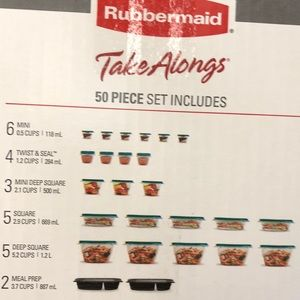 Rubbermaid 50 piece container set
